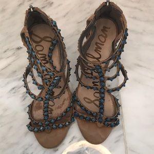 Sam Edelman sandals with blue stones